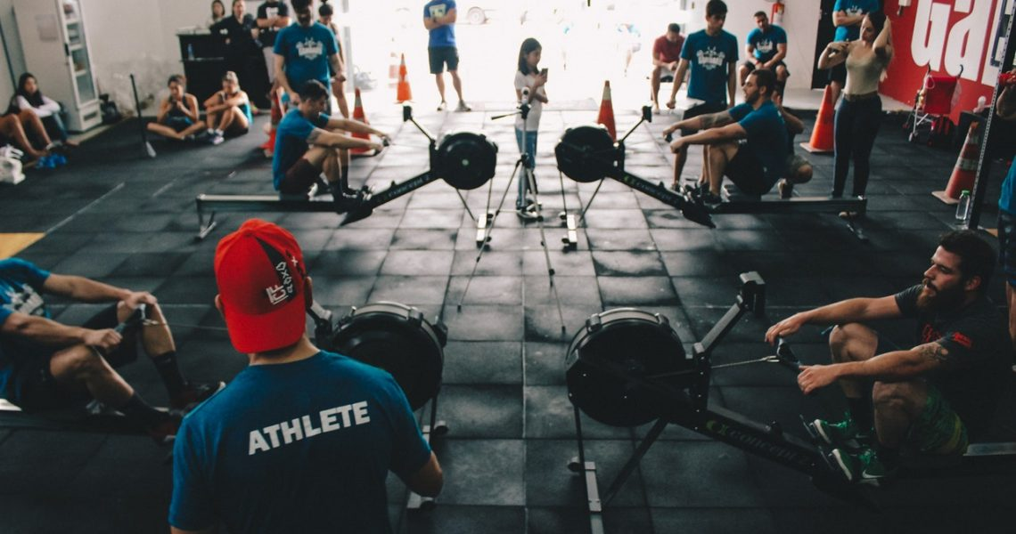 Ett fullt gym